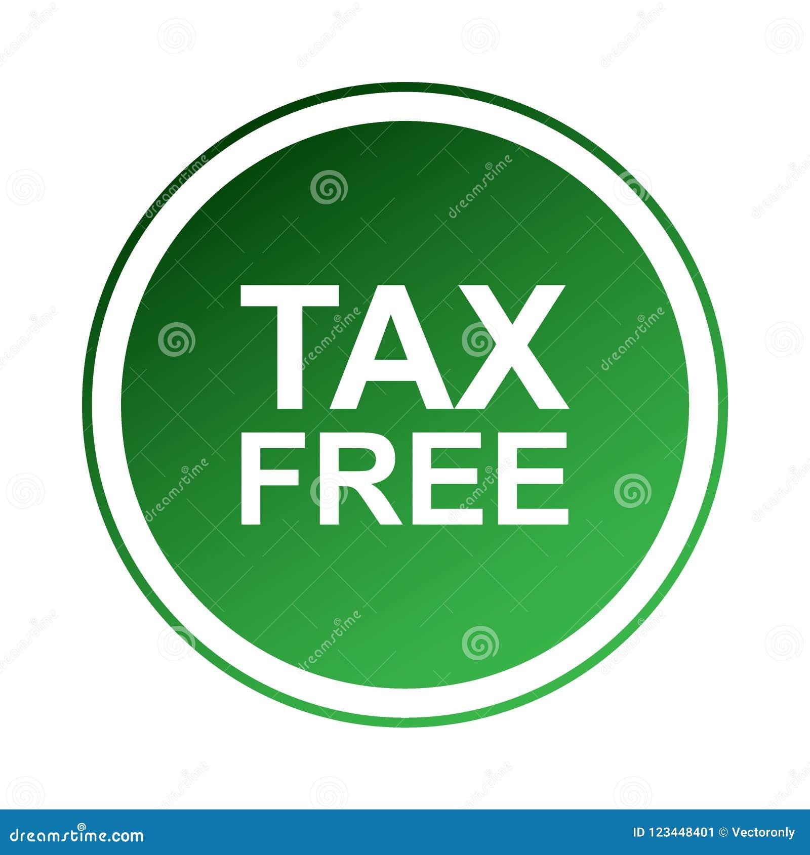 Tax free label stock illustration  Illustration of gift