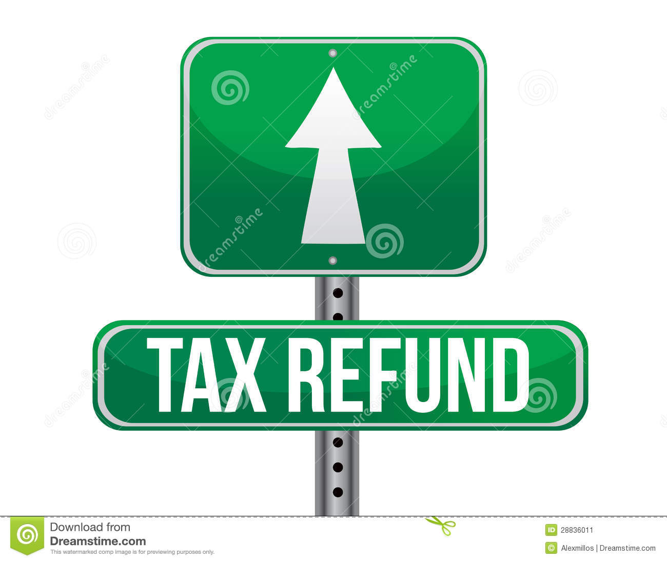 Tax refund sign stock image image 28836011 for Household bargaining and the design of couples income taxation