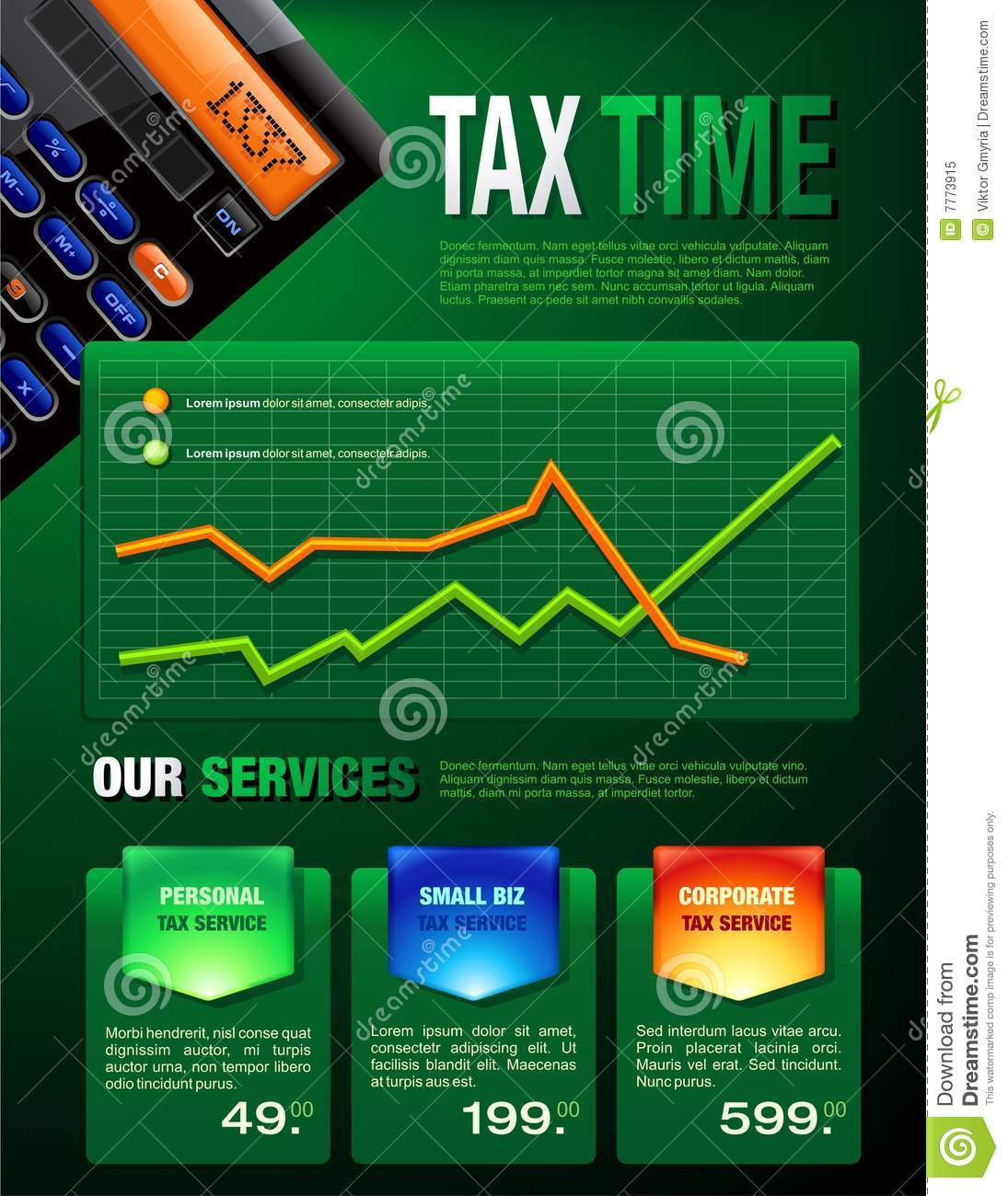 Tax Services Brochure Royalty Free Stock Photo - Image: 7773915