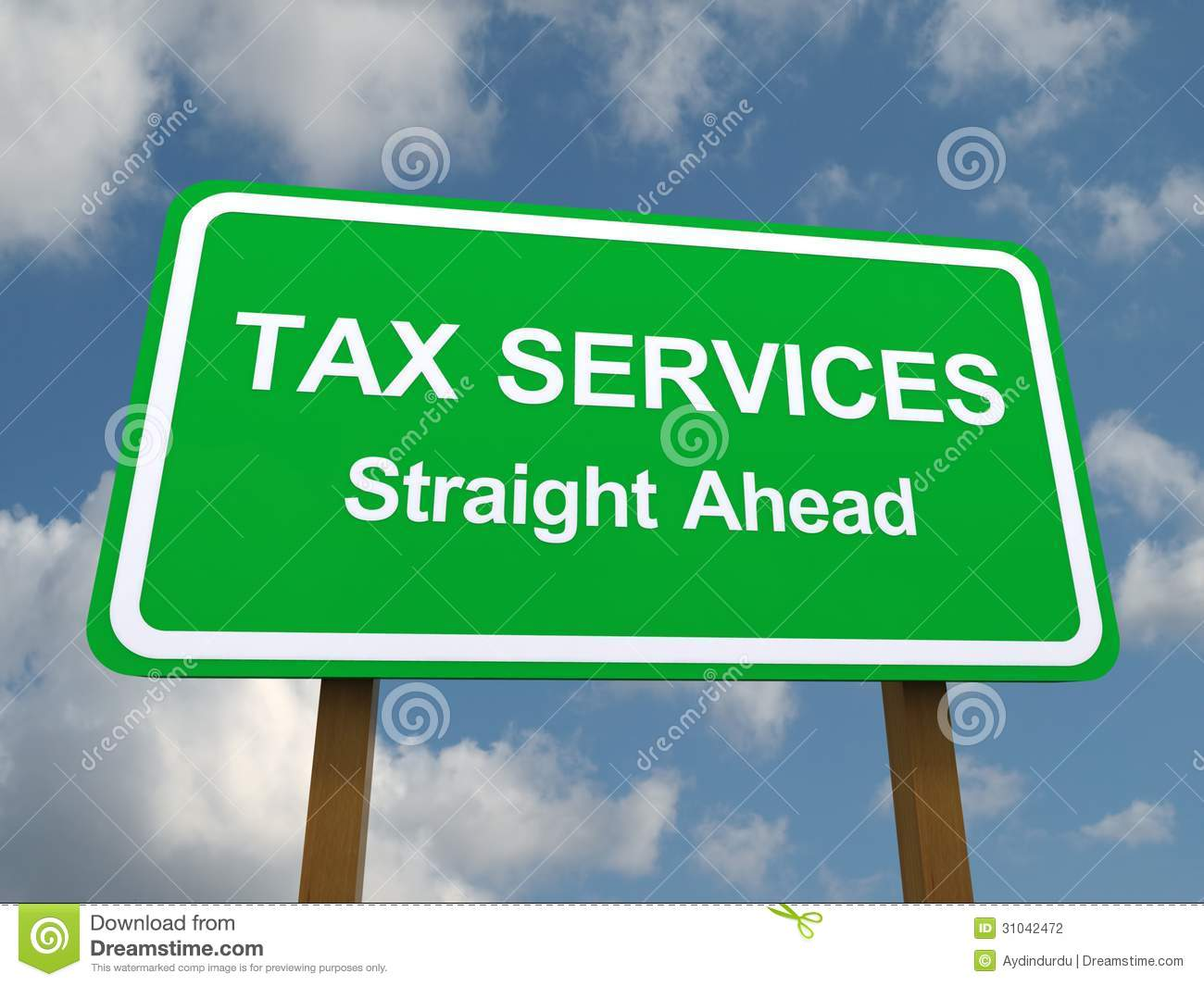 Tax services straight ahead