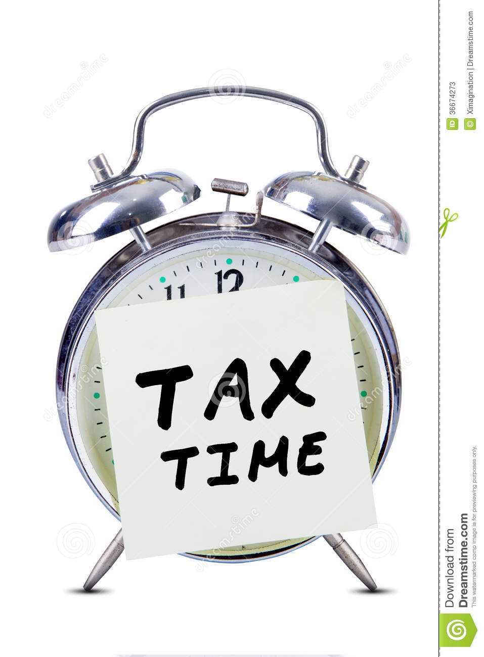 Tax Time Stock Image Image Of Refund Note Hour Alarm