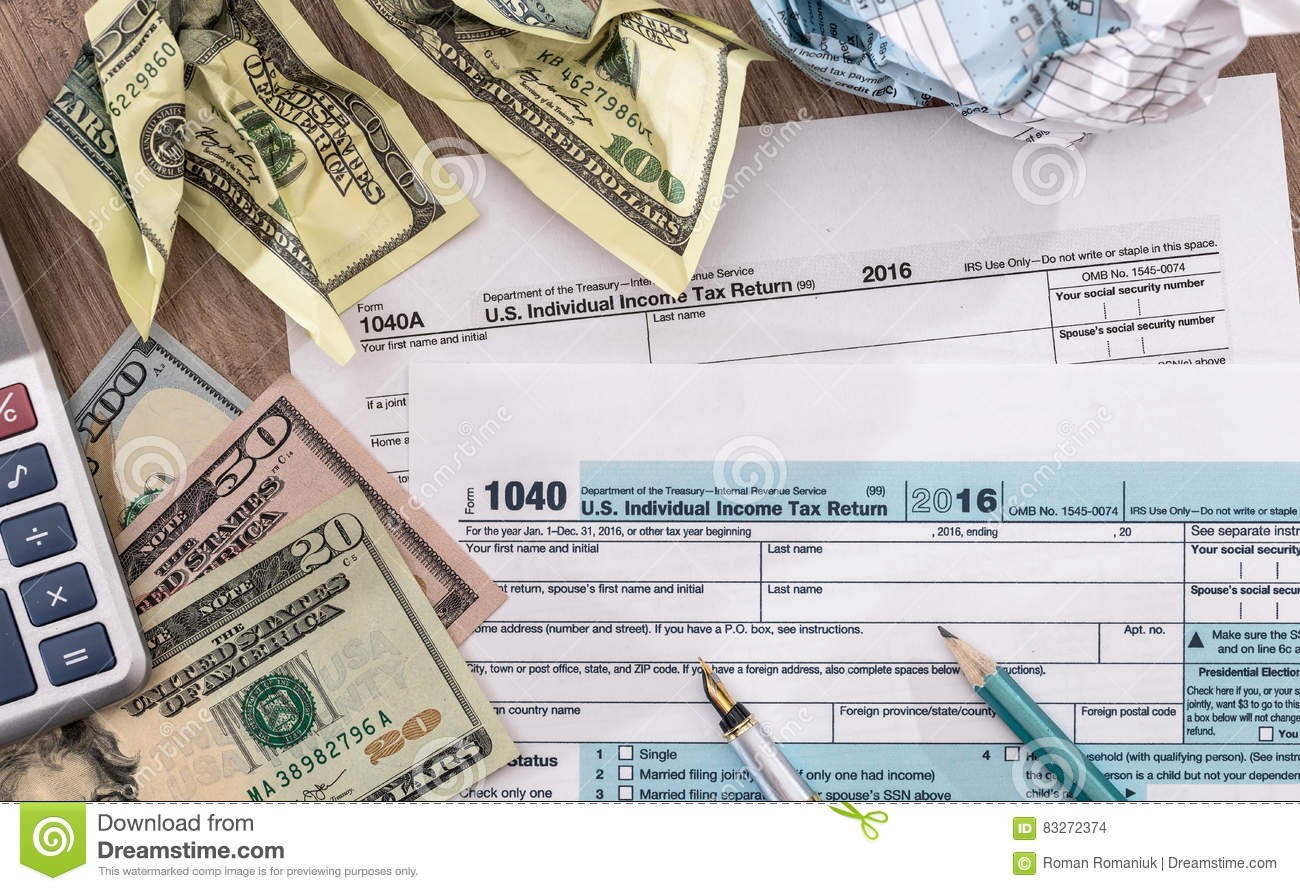 Tax Time US  Tax Return For  Year With Pen Dollar - Us zip code no tax