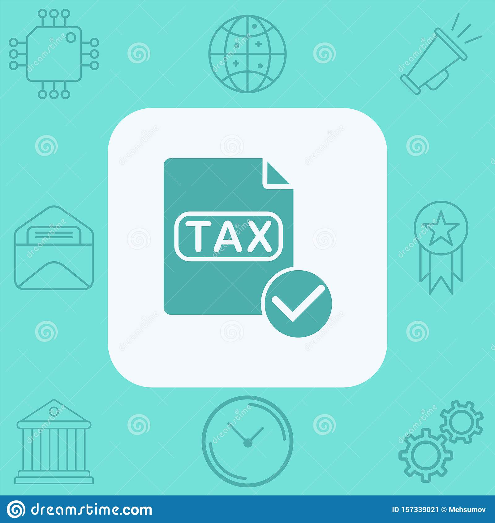 Tax Vector Icon Sign Symbol Stock Illustration