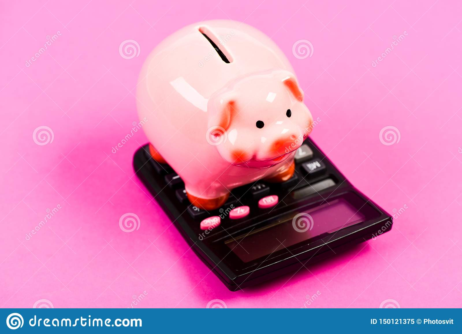 Taxes and charges may vary. Accounting business. Pay taxes. Taxes and fees concept. Tax savings. Piggy bank money