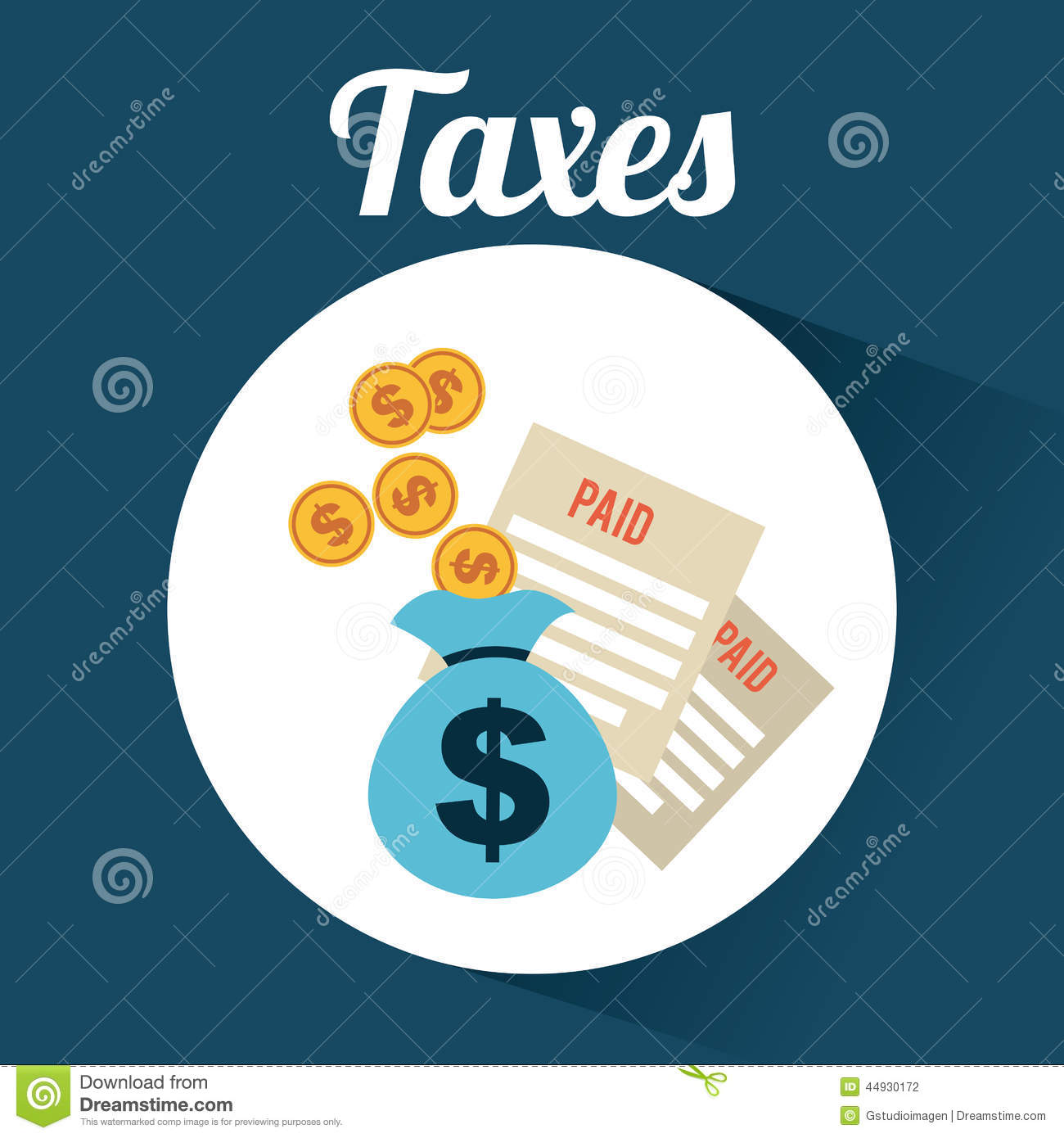 Taxes Design Stock Vector. Illustration Of Background
