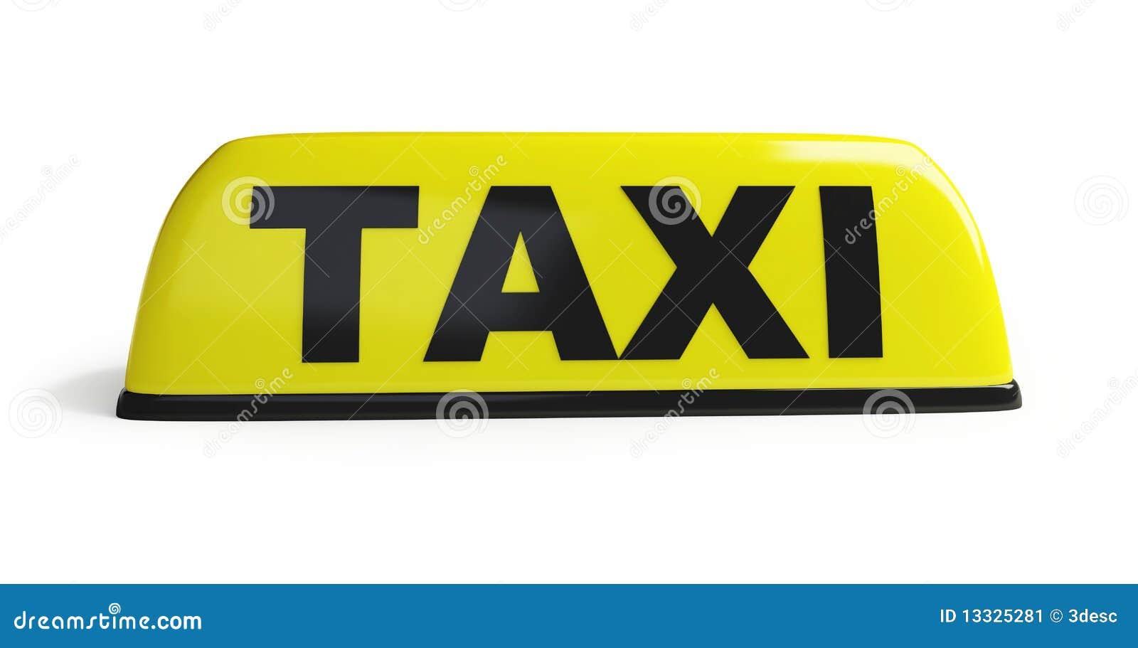 Download Taxi obraz stock. Obraz złożonej z znak, transport, taxi - 13325281