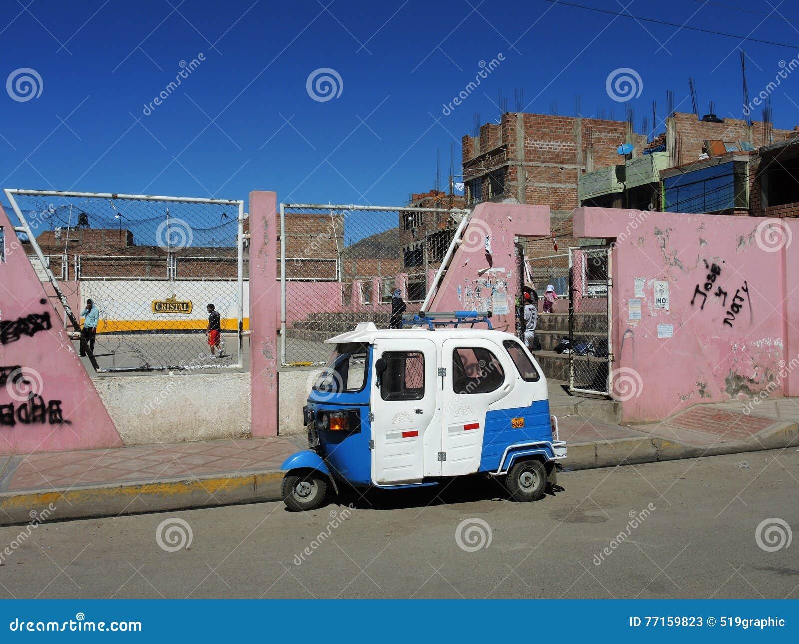 Taxi automatique de pousse-pousse, Puno, Pérou