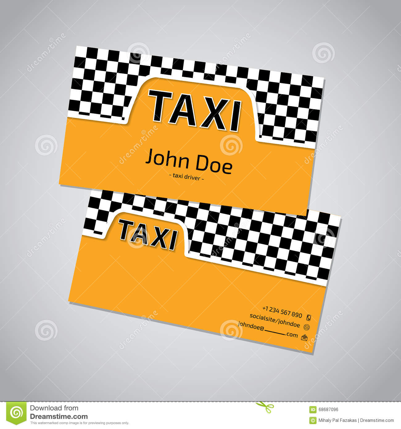 Taxi Business Card With Cab Symbol Stock Vector - Illustration of ...