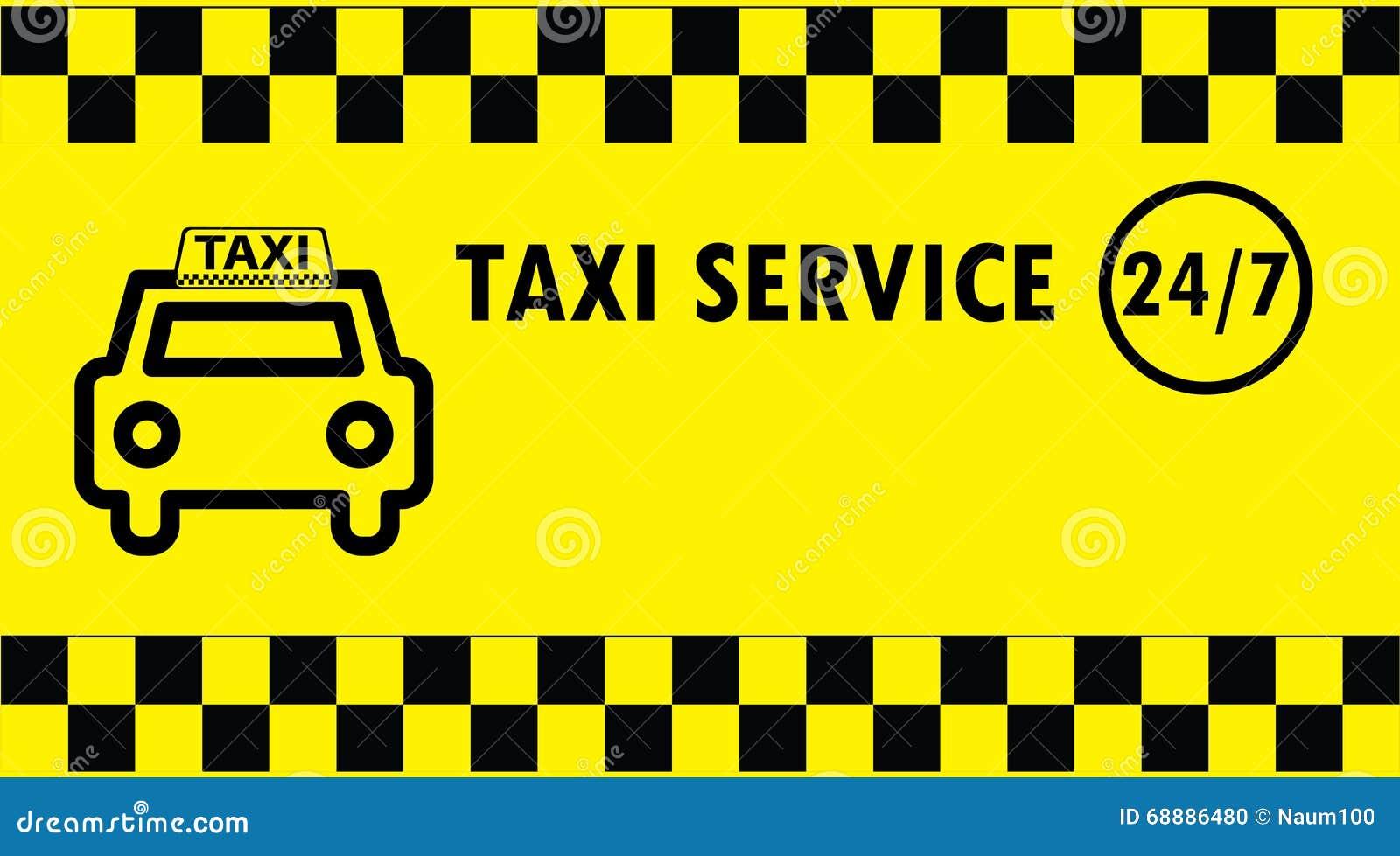 Taxi Business Card Illustration 68886480 - Megapixl