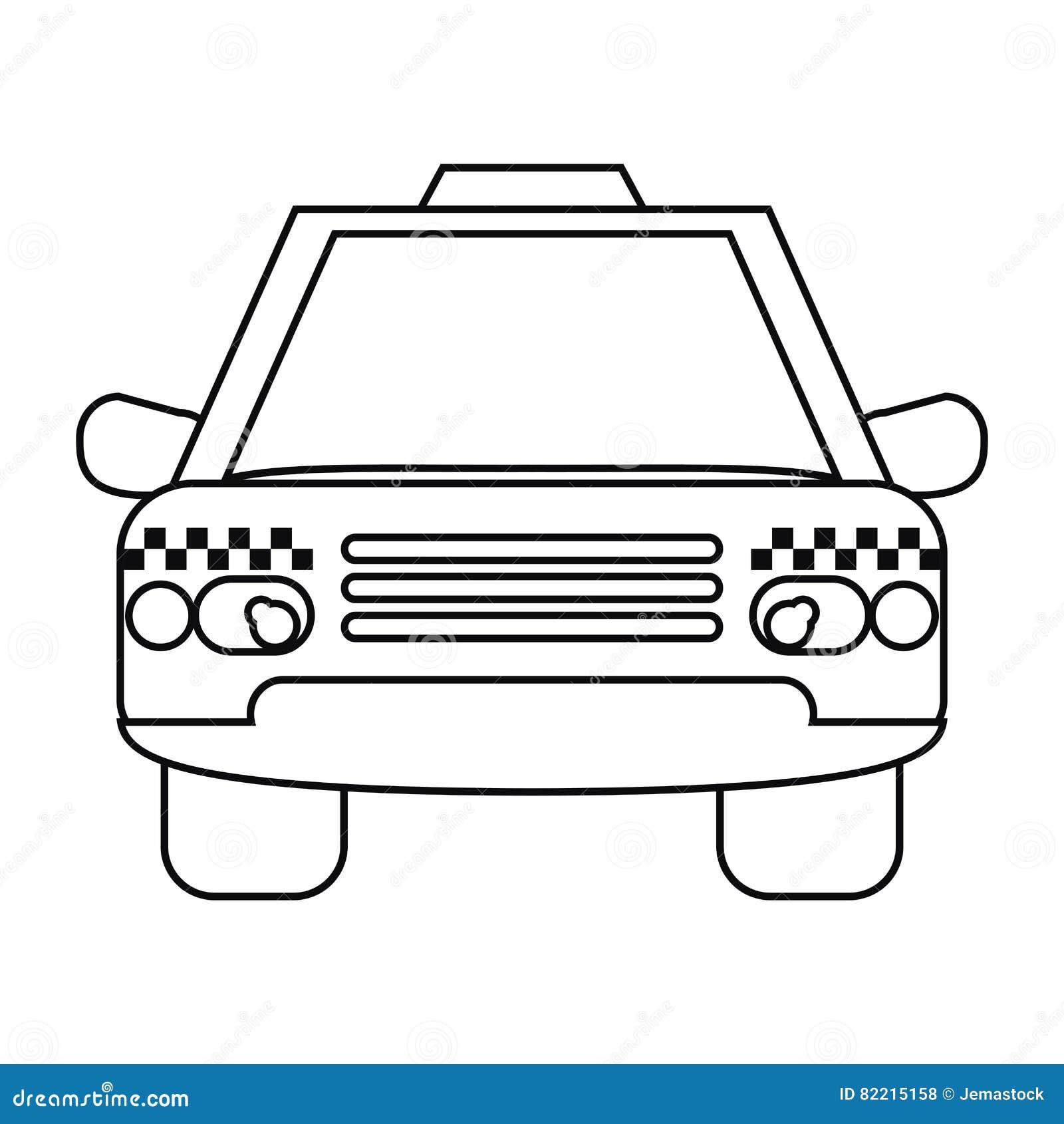 taxi cab car public transport outline stock vector image 82215158