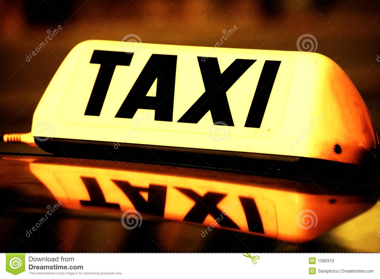 Taxi cab sign stock photo  Image of letters, transport - 1580310