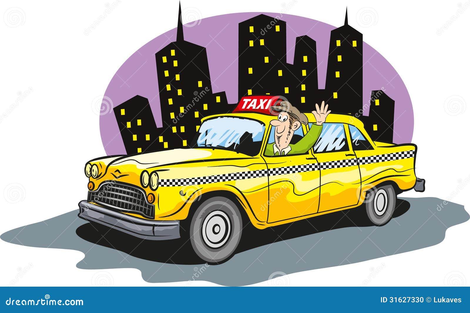 Taxi Cab Stock Vector Illustration Of Traffic Transport