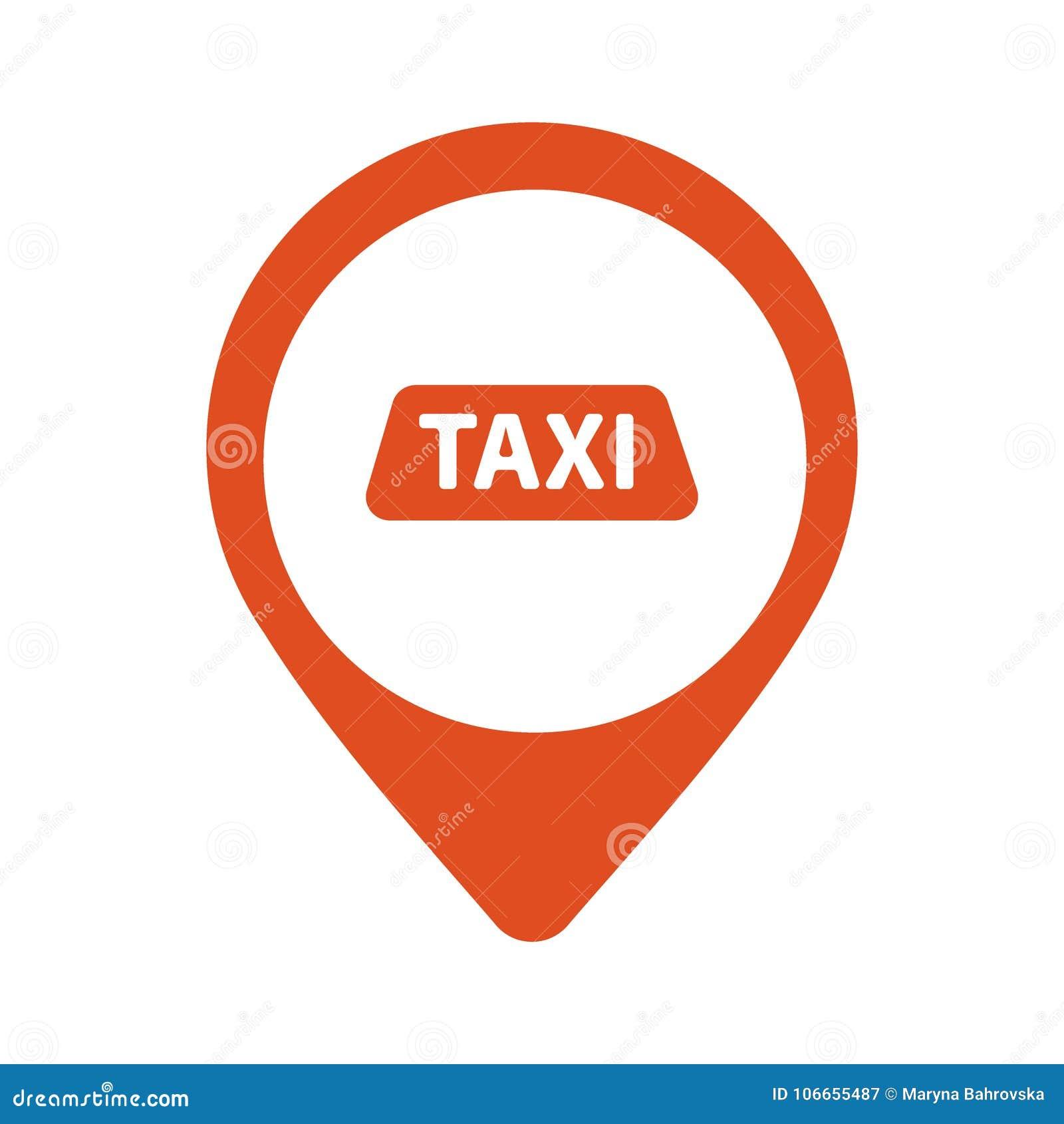 Taxi Cab Vector Logo Design Car Hire Badge App Emblem Taxi