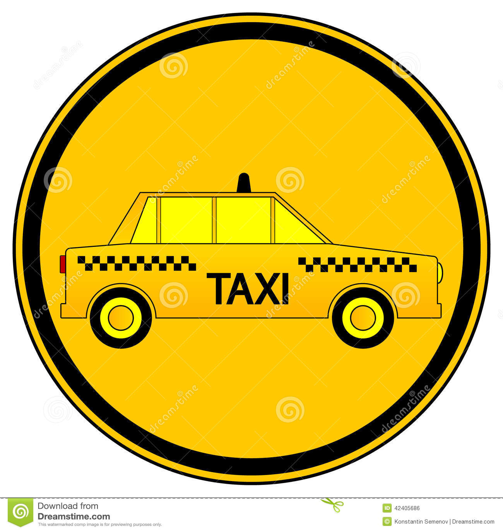 taxi car button stock vector image 42405686. Black Bedroom Furniture Sets. Home Design Ideas