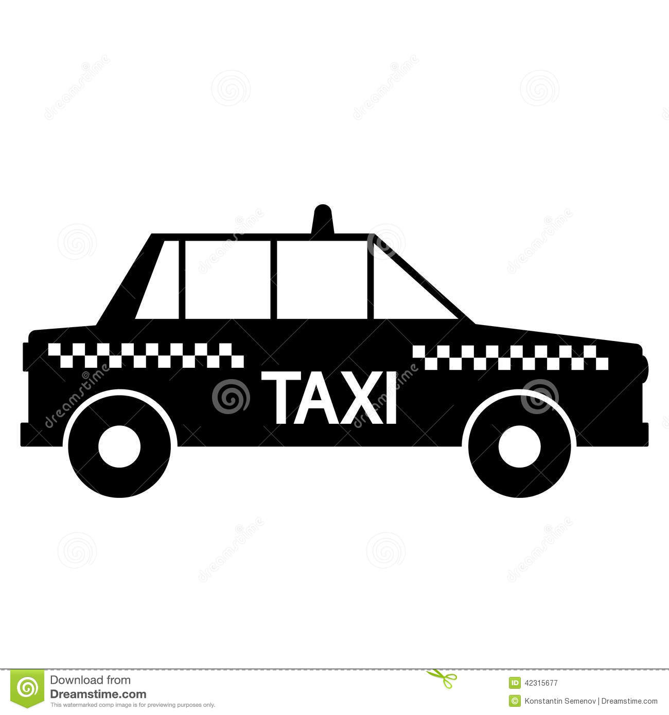 taxi car icon stock vector image of headlight object. Black Bedroom Furniture Sets. Home Design Ideas