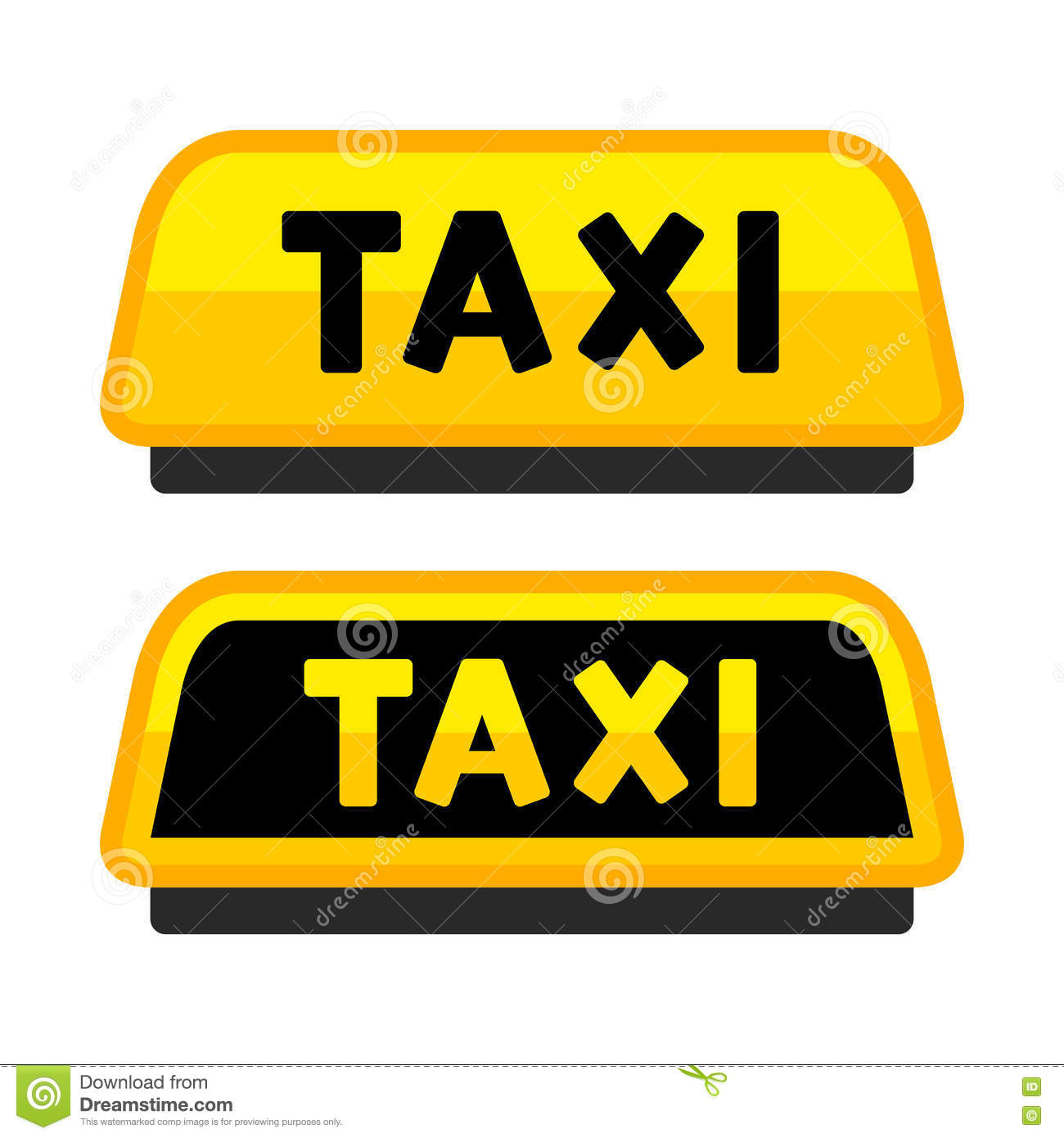 taxi car roof sign logo label set vector stock vector