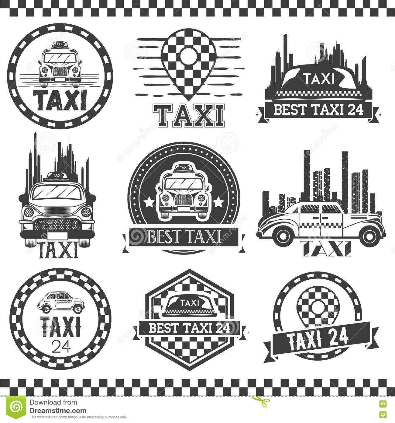 Taxi service design royalty free illustration for Service design firms
