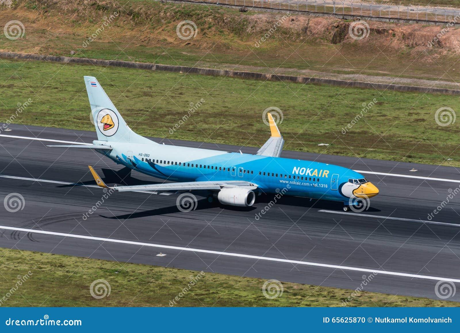 Taxi d avion d air de NOK à l aéroport de phuket