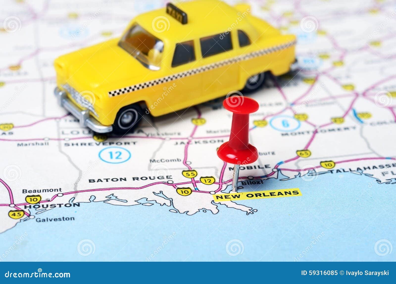 Taxi De Carte De La Nouvelle Orleans Etats Unis Image Stock Image Du Unis Nouvelle 59316085