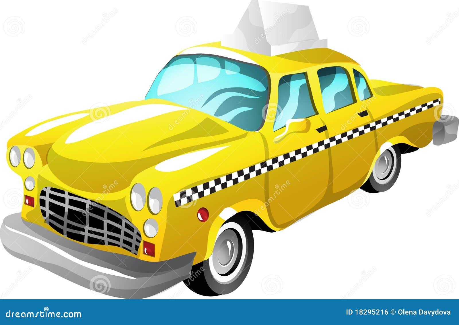 Taxi de dessin animé illustration de vecteur. Illustration du ordinateur - 18295216