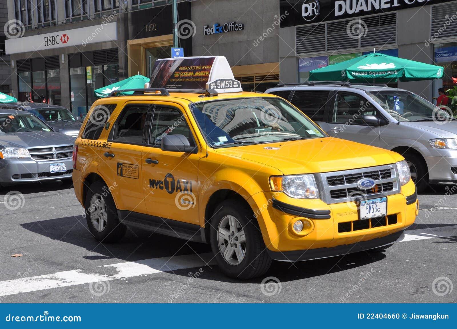 taxi de nyc taxi jaune new york city image ditorial image du gu lecteur 22404660. Black Bedroom Furniture Sets. Home Design Ideas