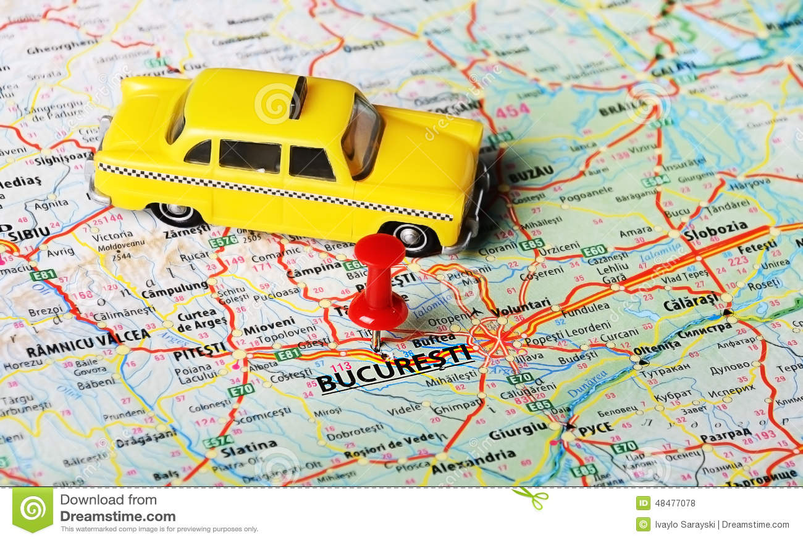 Taxi della mappa di Bucuresti, Romania