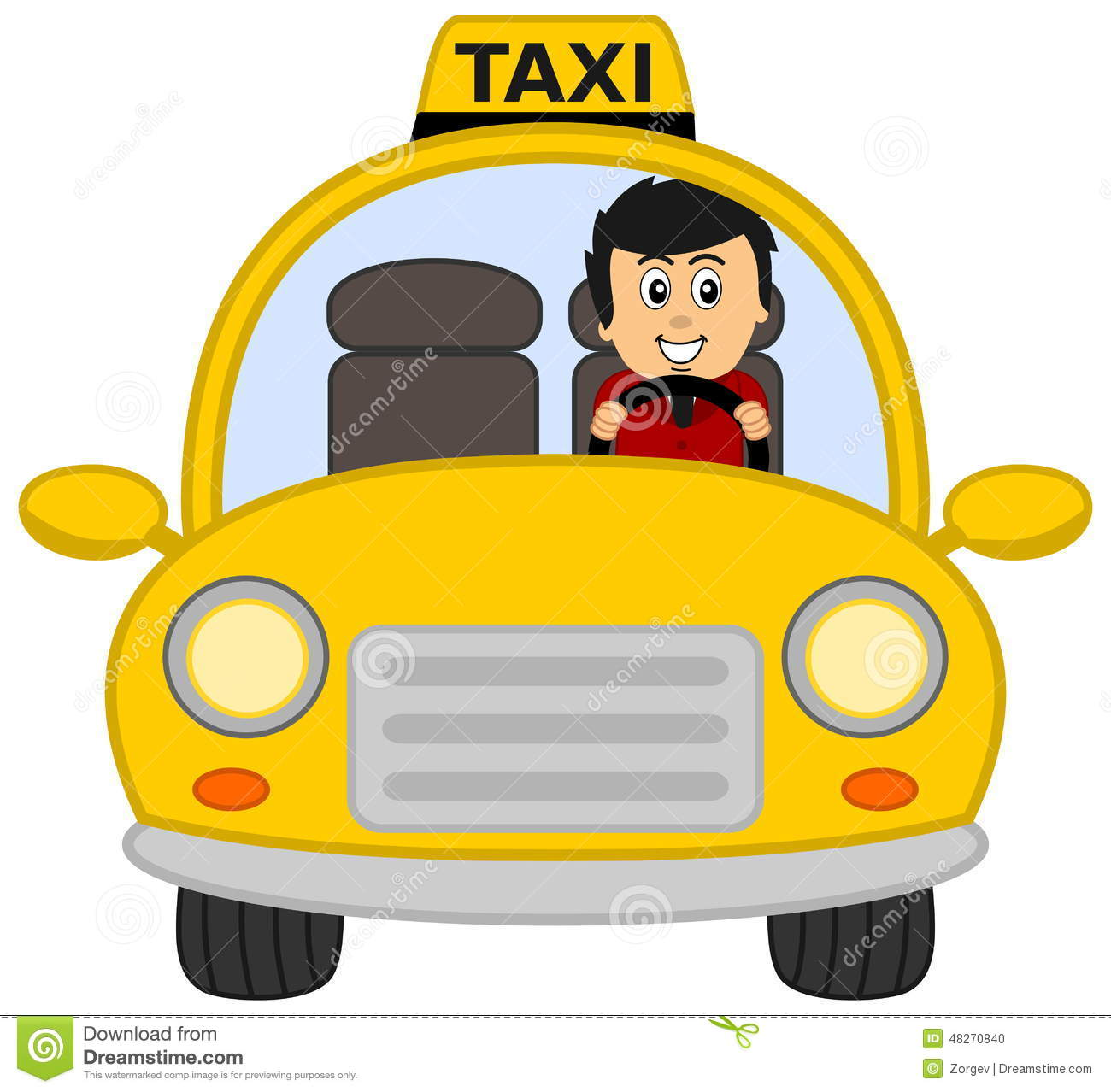 Taxi Driver Stock Illustration Image 48270840
