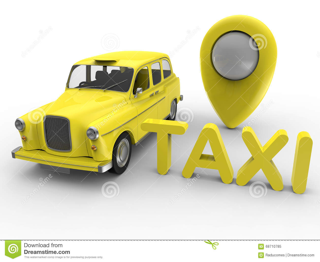 Taxi GPS service stock illustration  Illustration of business - 68710785