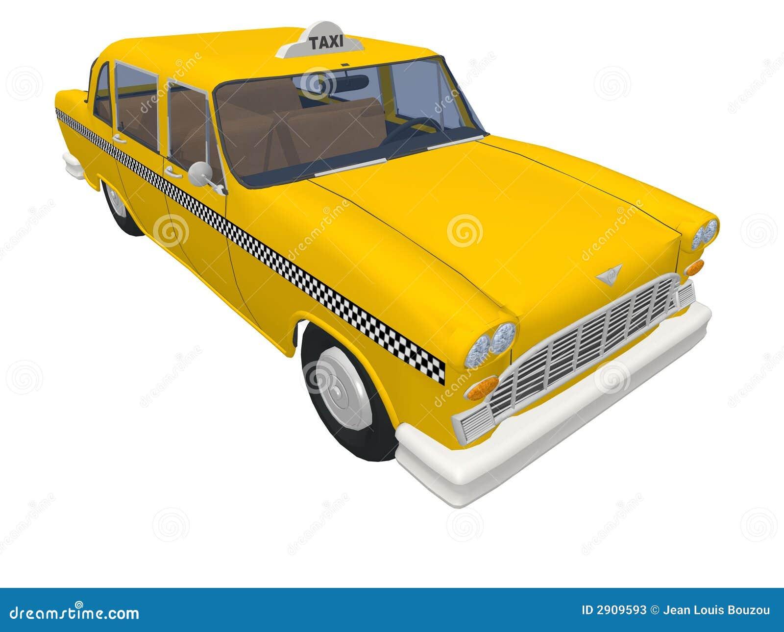 taxi jaune de new york illustration stock illustration du taxi 2909593. Black Bedroom Furniture Sets. Home Design Ideas