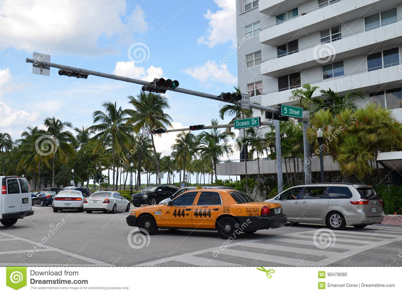 Taxi In Miami Editorial Image