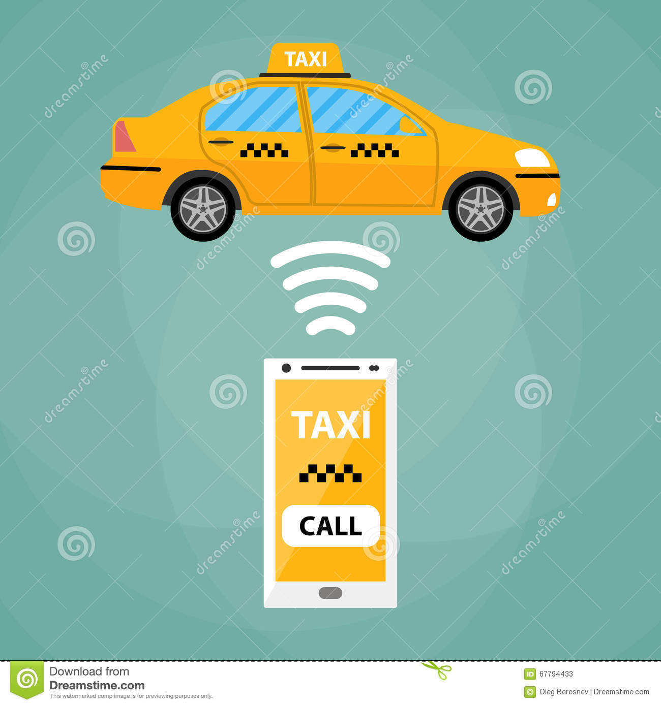 Taxi Mobile App Concept Stock Vector. Image Of Concept