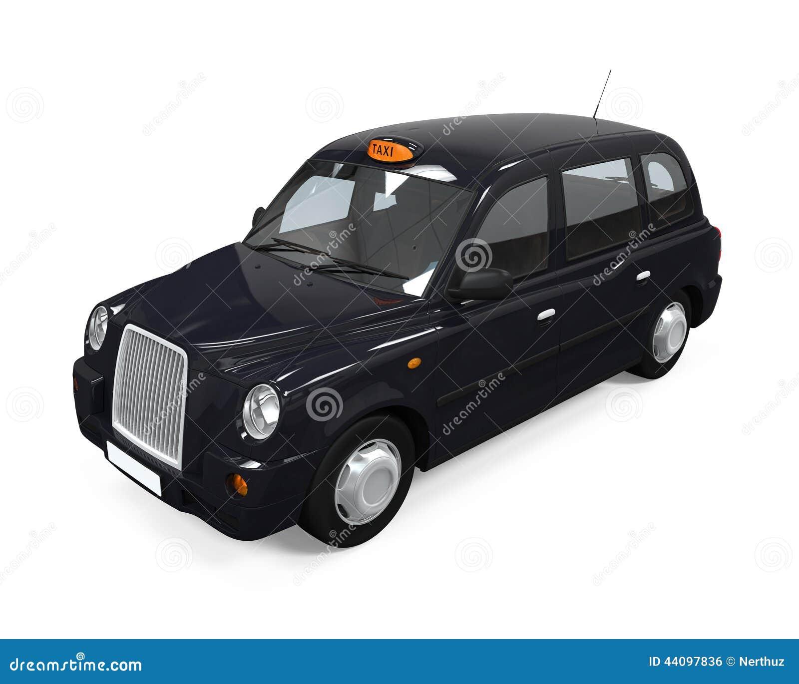 taxi noir de londres illustration stock image 44097836. Black Bedroom Furniture Sets. Home Design Ideas