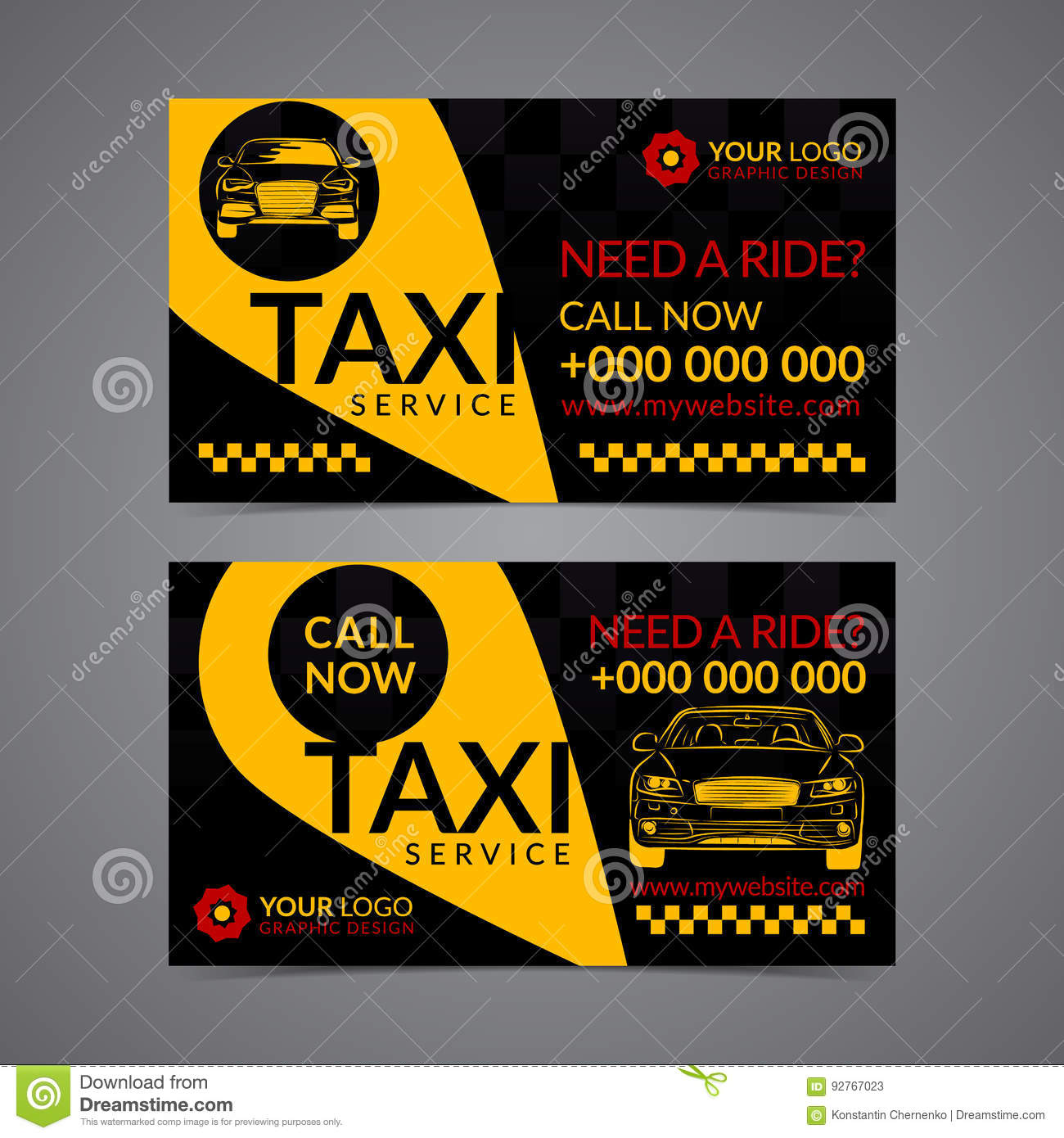 Taxi Pickup Service Business Card Layout Template. Create Your Own ...