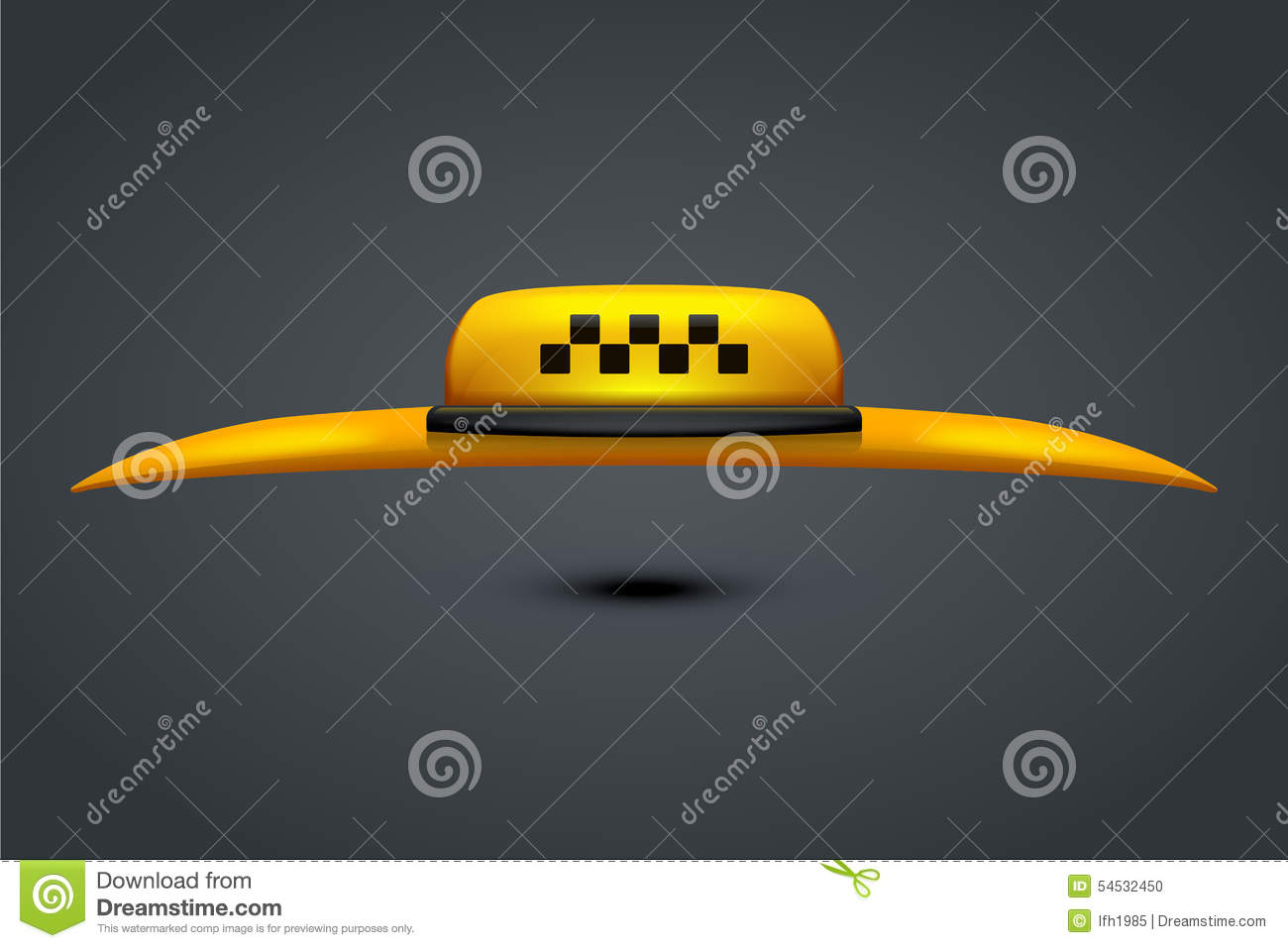 Taxi with roof