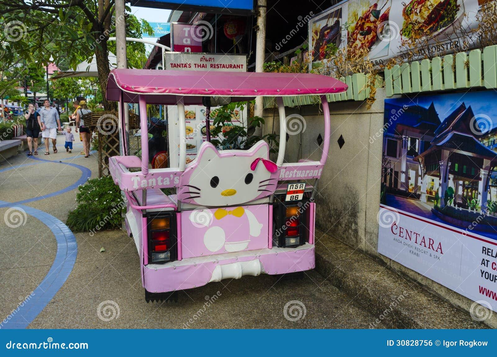 Taxi tailandese tradizionale di stile.