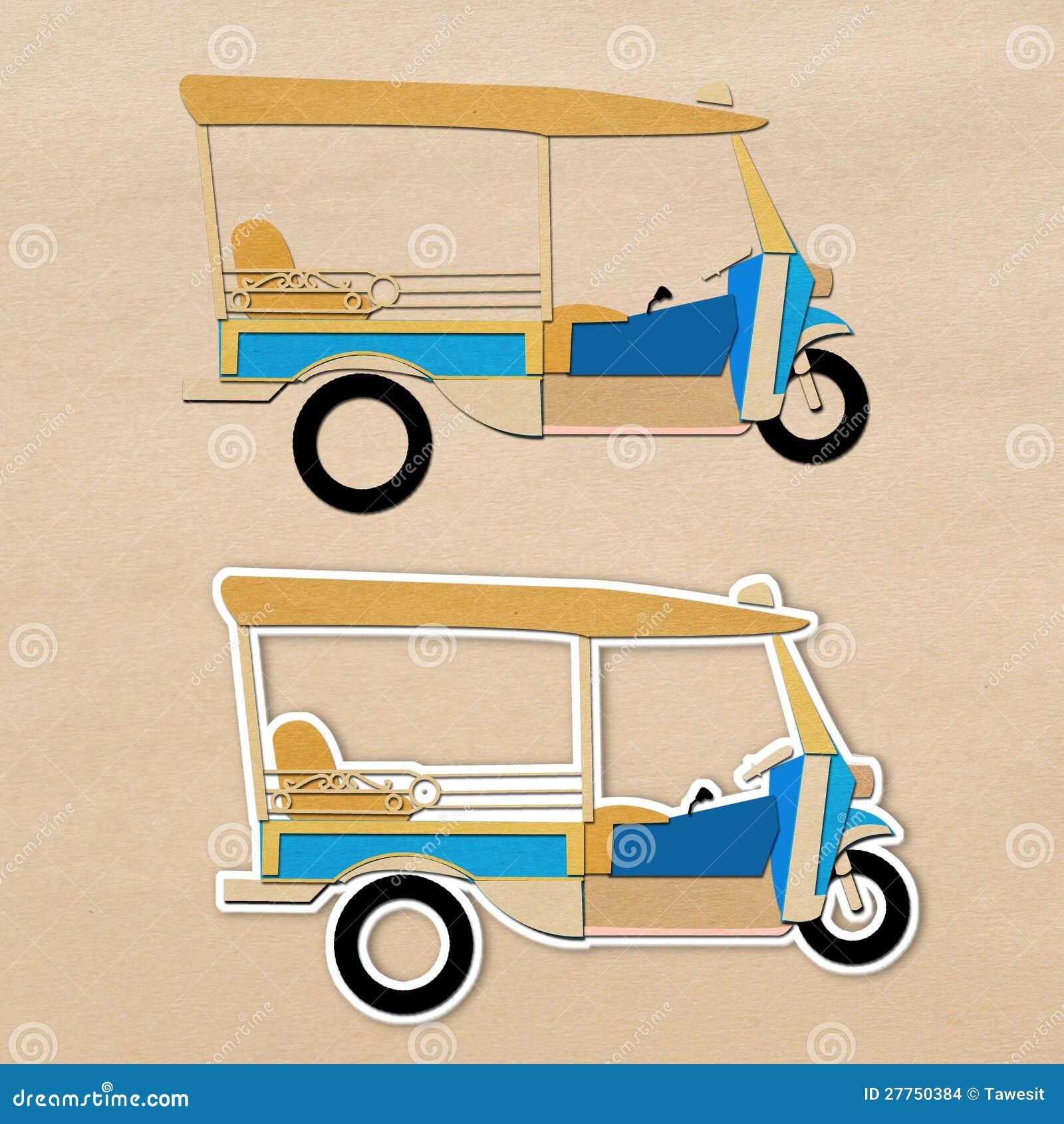 Taxi thaï de type de tuk de Tuk