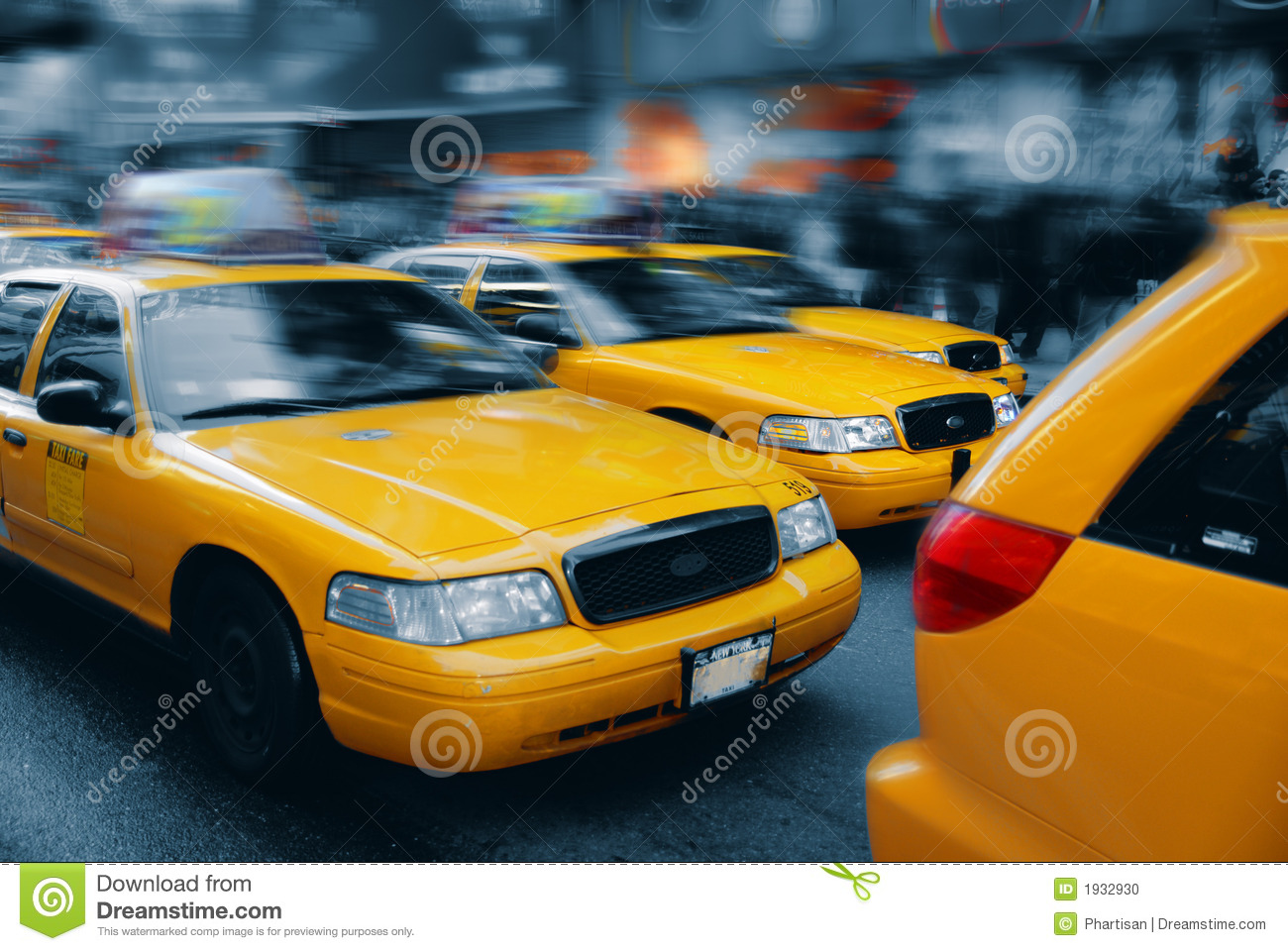 Taxi - Times Square, Manhattan, NY
