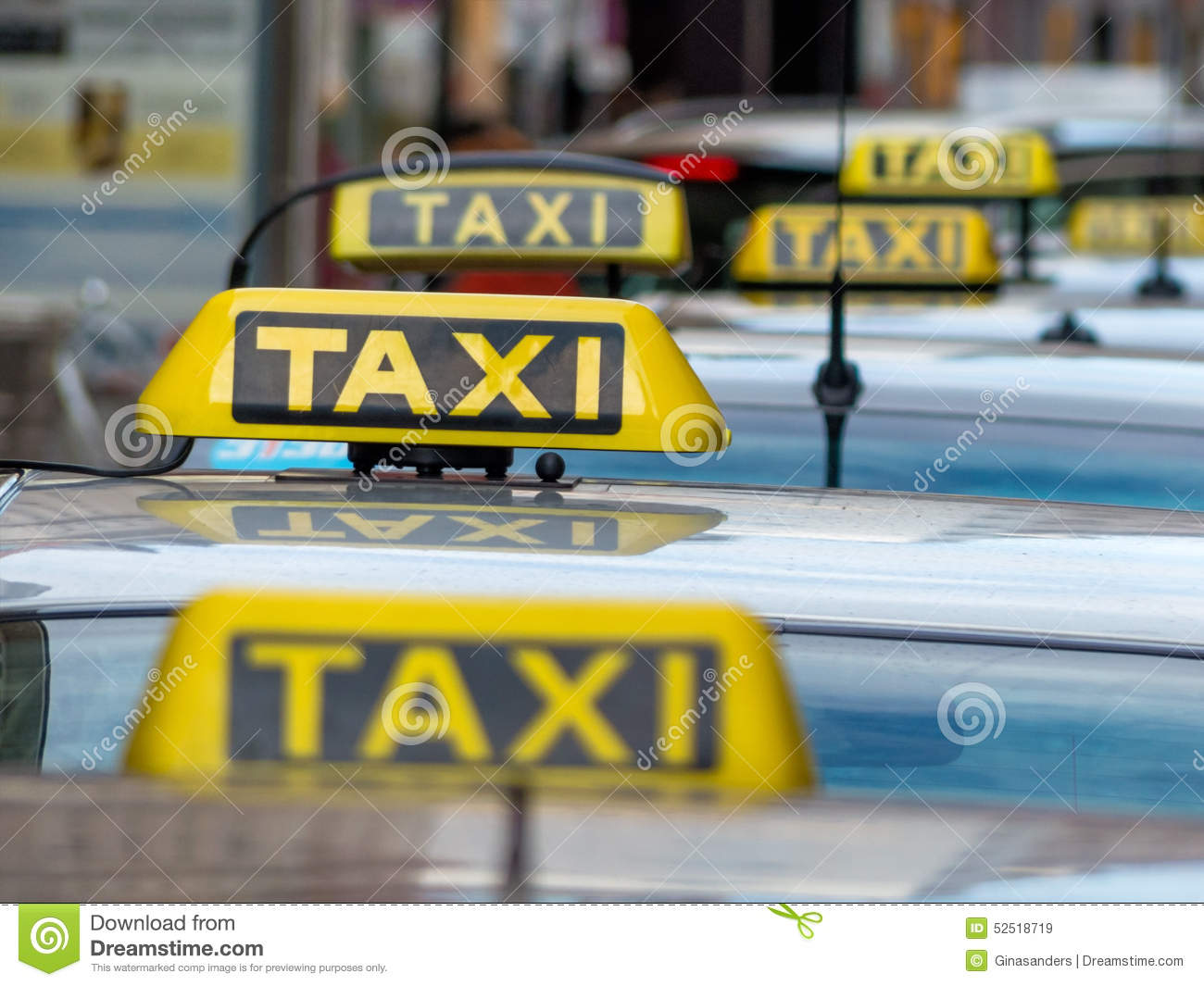 Taxis σε μια τάξη ταξί