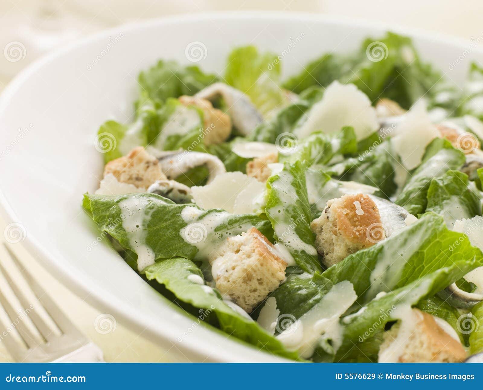 Tazón de fuente de ensalada de Caesar