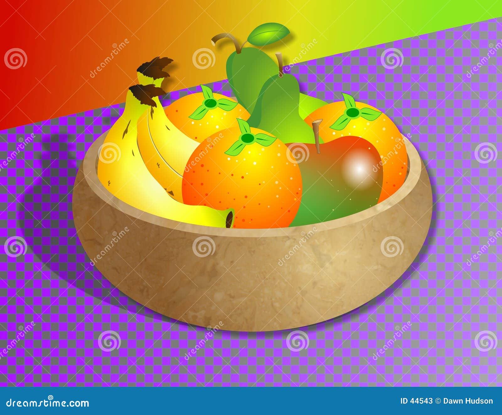 Download Tazón de fuente de fruta stock de ilustración. Ilustración de plátanos - 44543