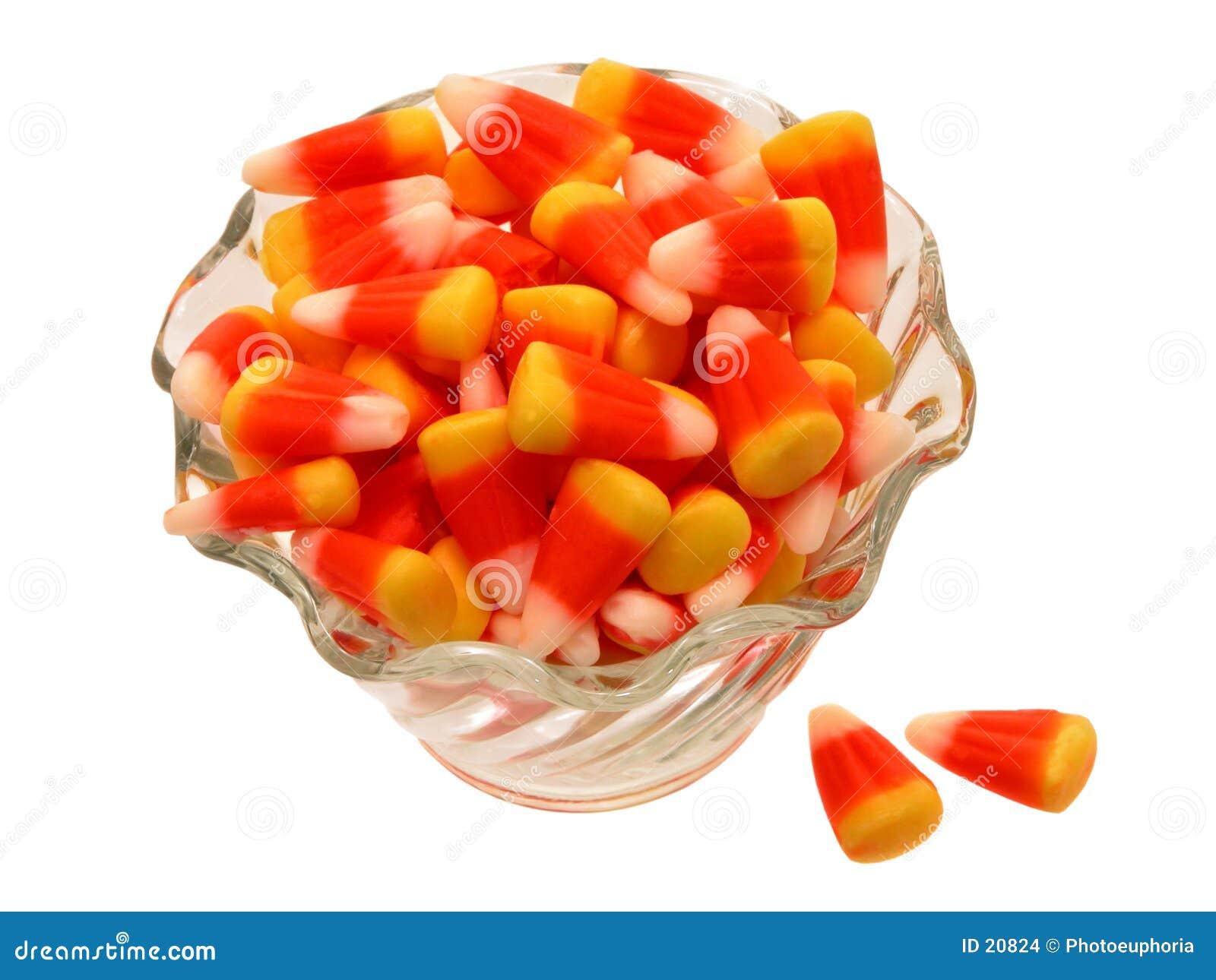 Tazón de fuente de maíz de caramelo