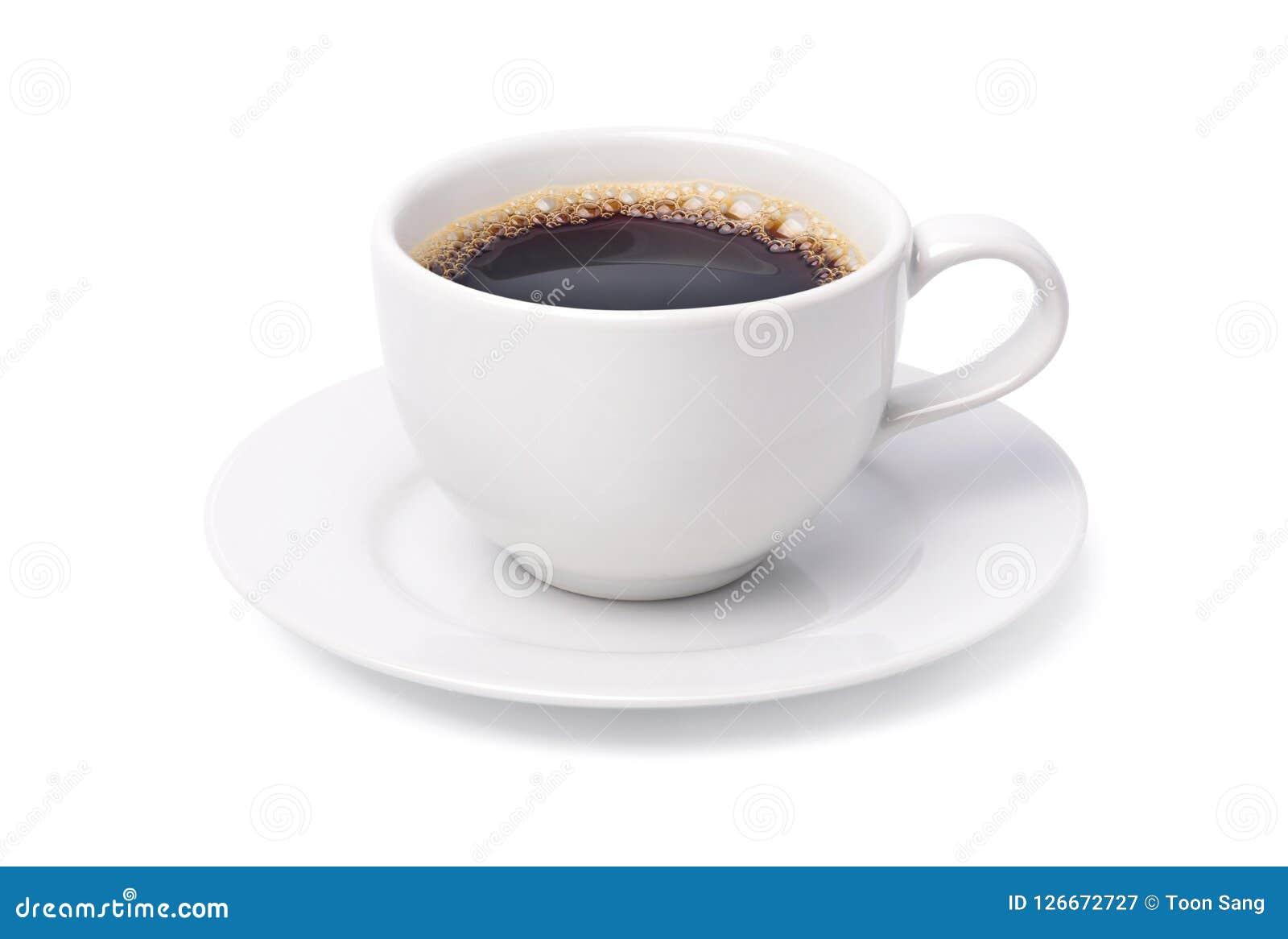 Taza blanca de café sólo caliente Fotografía de archivo libre de regalías