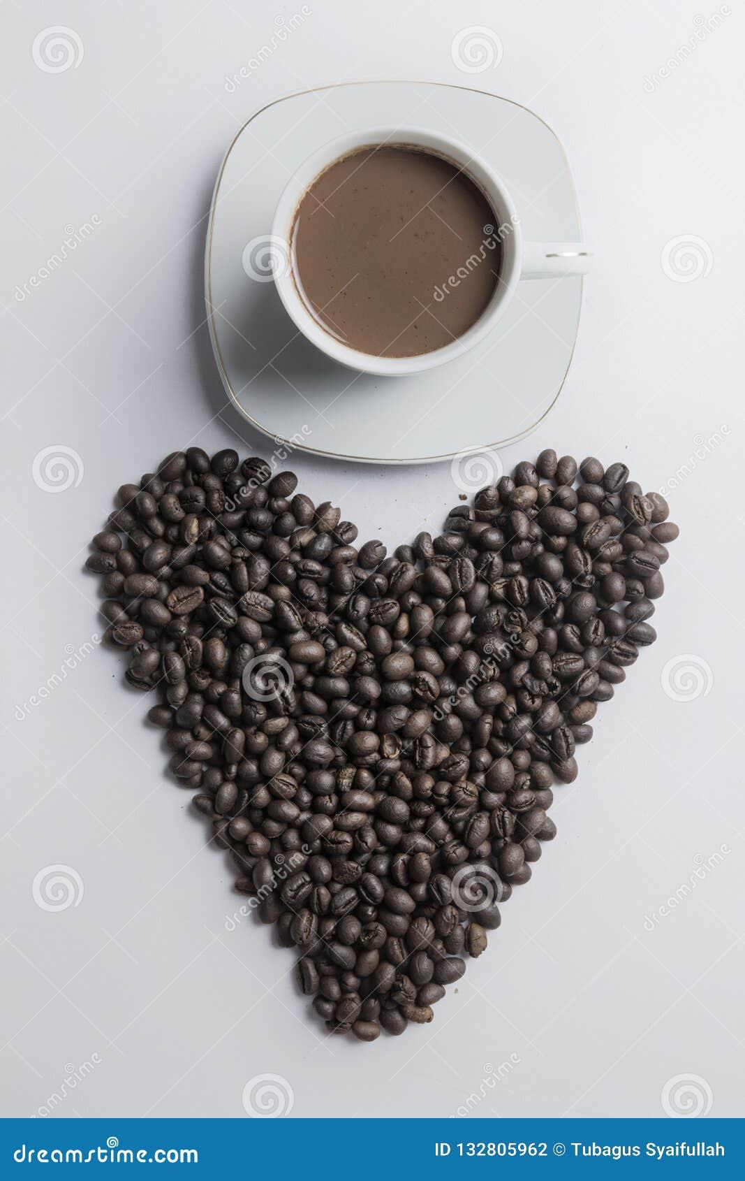 Taza de café con el corazón