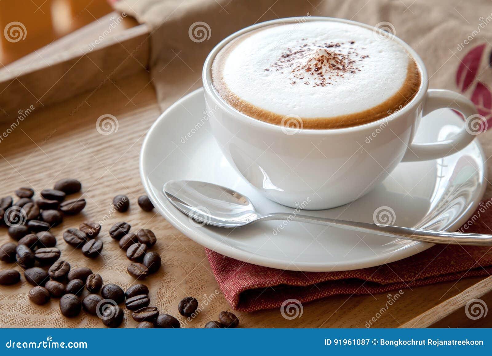 Taza de café de capuchino
