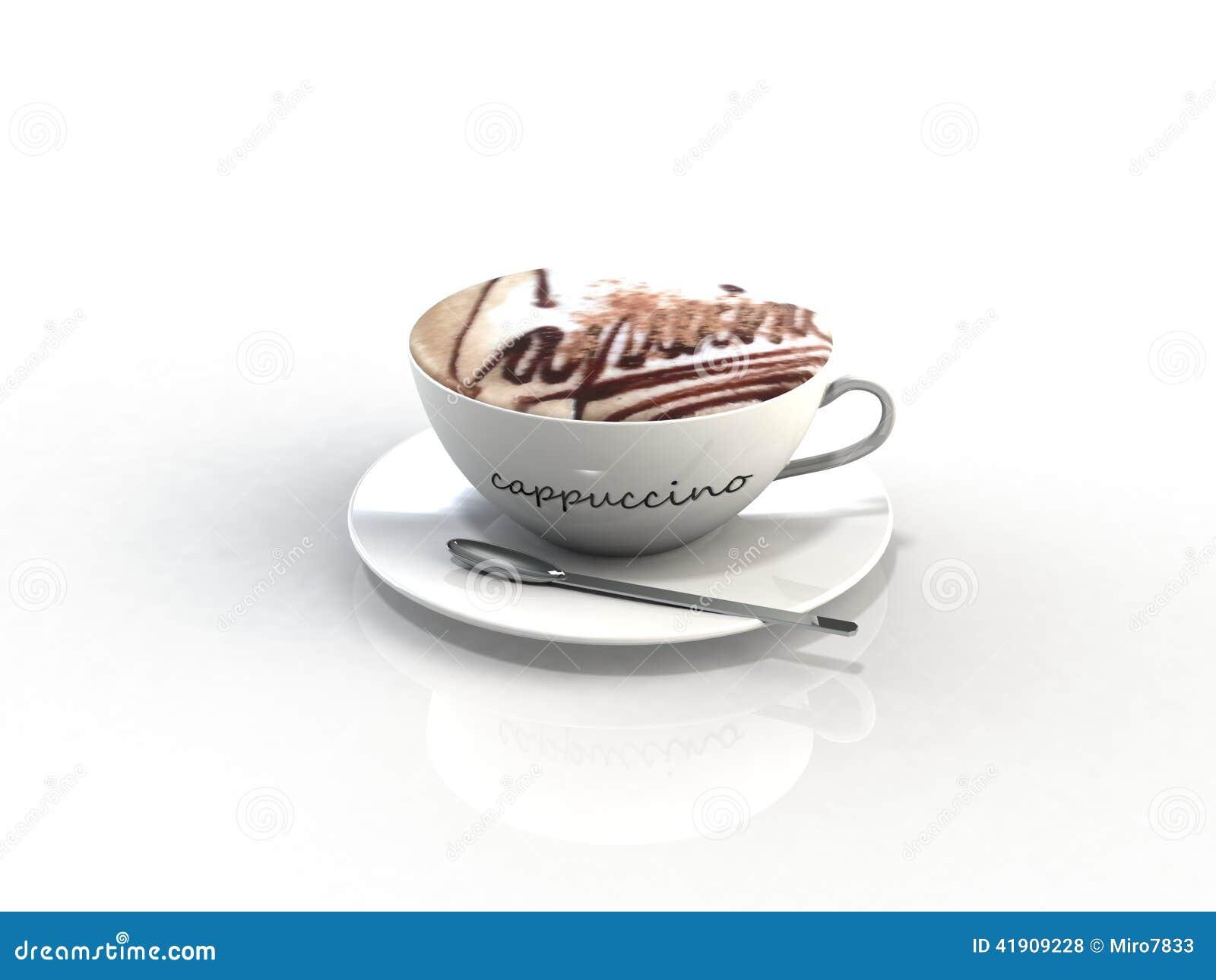 Taza de café del capuchino