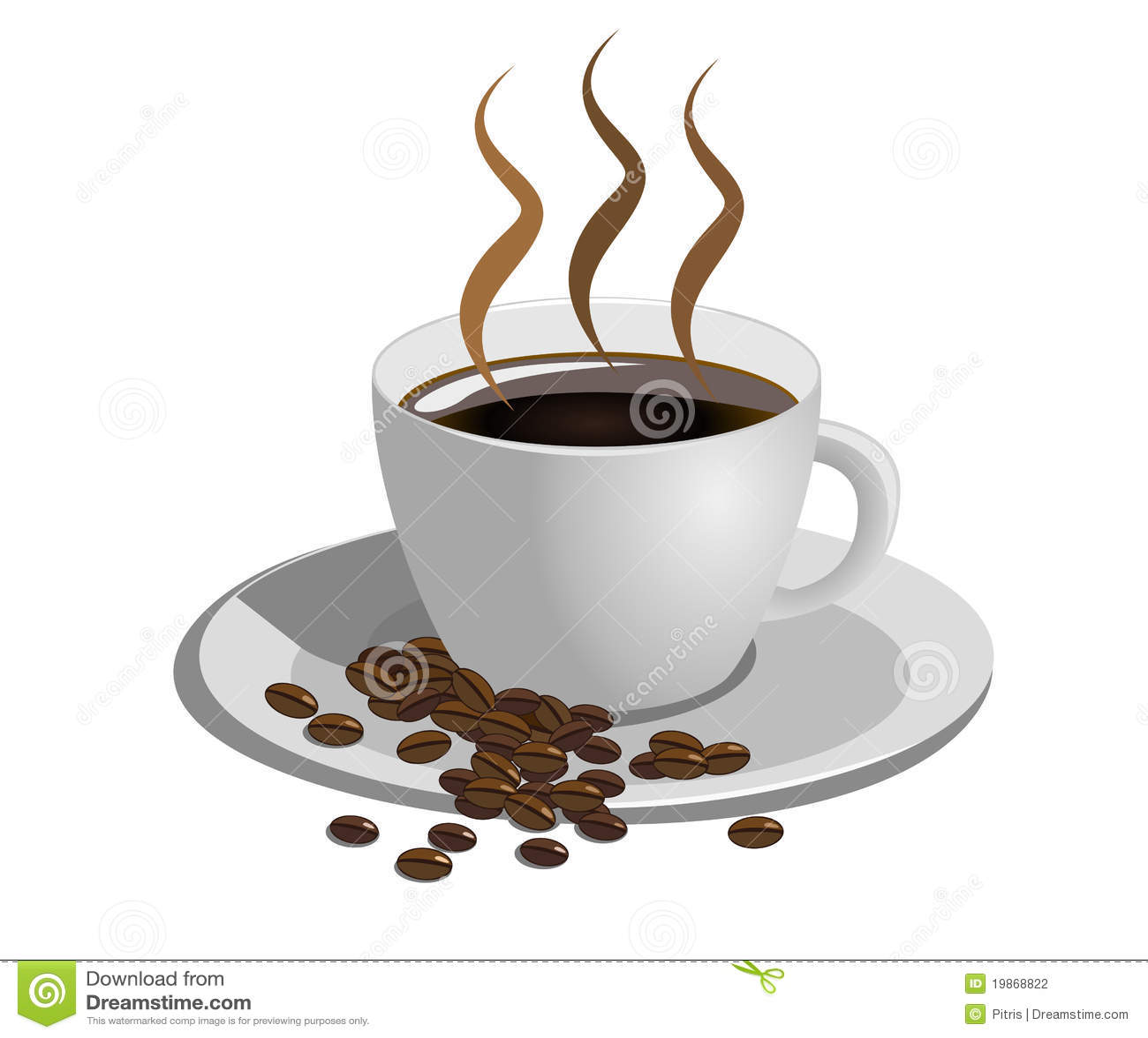 Taza de caf en el fondo blanco fotograf a de archivo for Tazas cafeteria