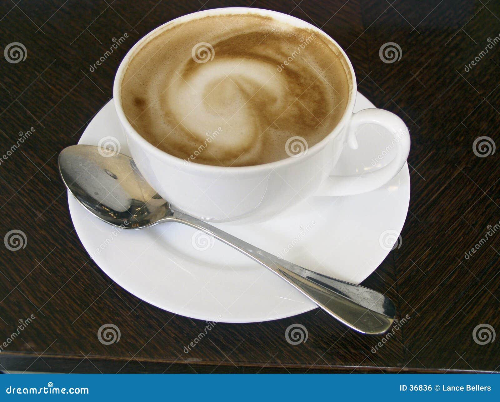Download Taza de cappuccino foto de archivo. Imagen de bebida, restaurante - 36836