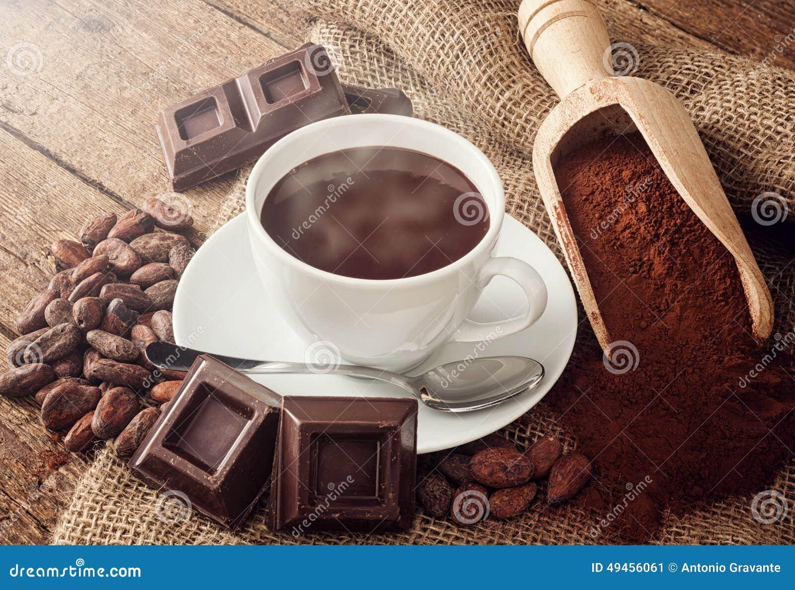 Taza De Chocolate Caliente Foto de archivo - Imagen: 49456061