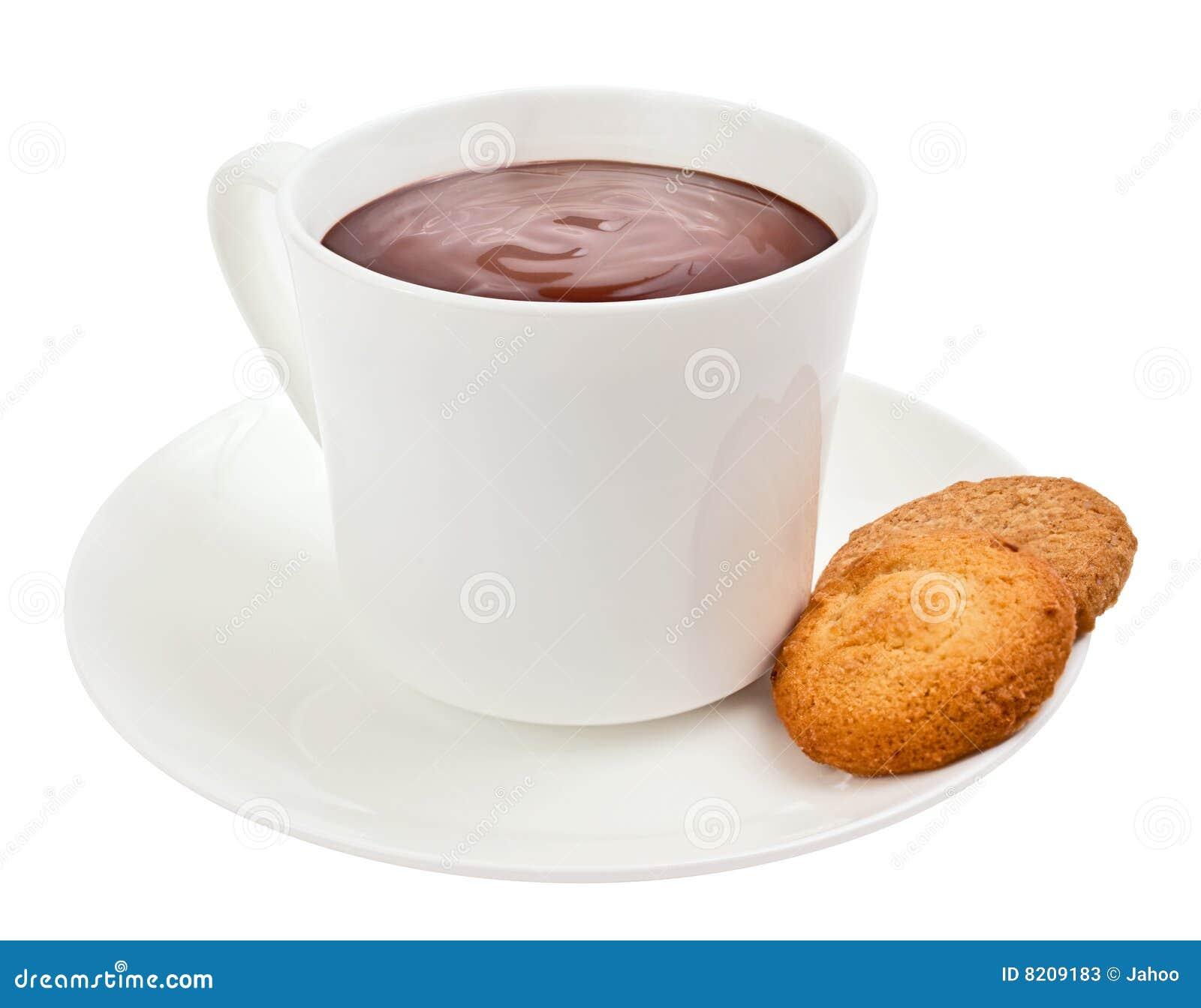 Taza De Chocolate Caliente Gastrónomo Con Las Galletas Fotos de ...
