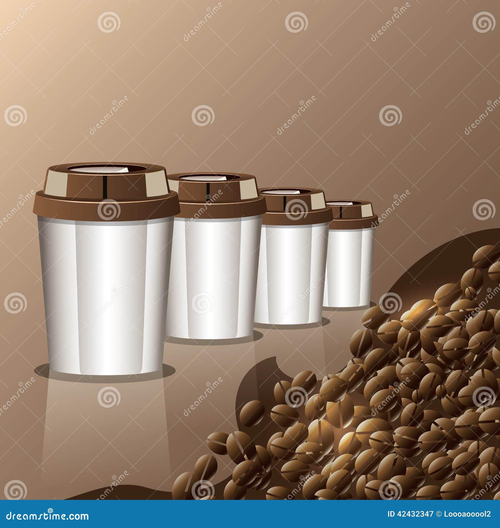 Taza de menú del fondo del café